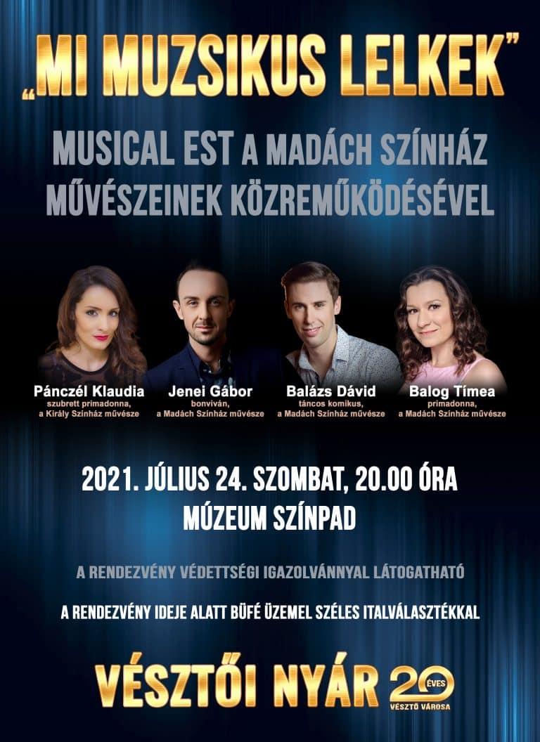 """""""Mi muzsikus lelkek"""" – Musical Est a Madách Színház művészeinek közreműködésével"""